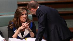 credlin and abbott confer