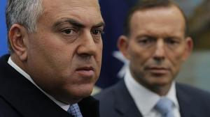 hockey with abbott staring at him