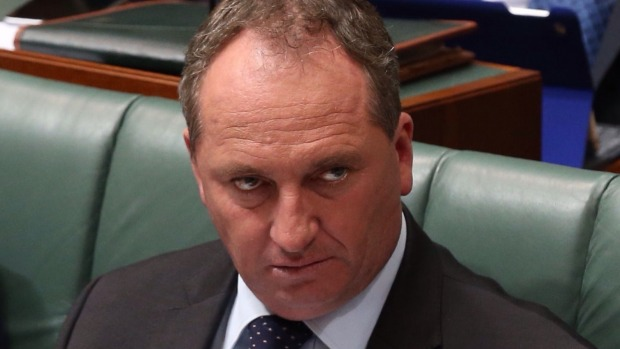 Barnaby in parliament having a moment