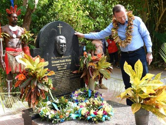abbott on mabo's grave