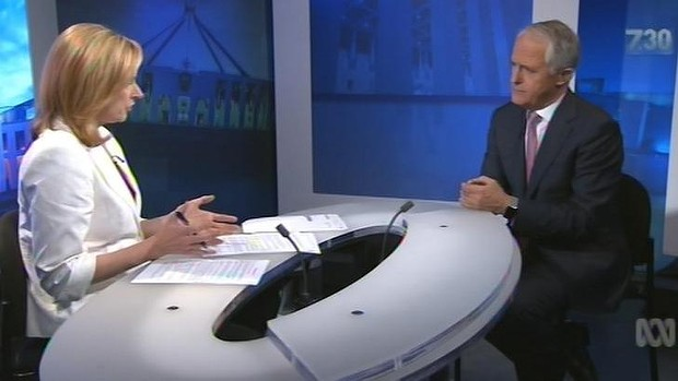 leigh sales and malcolm turnbull
