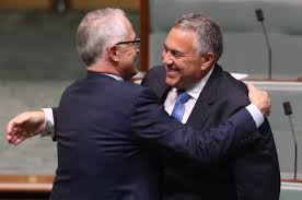 hockey and turnbull embrace
