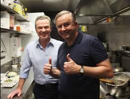 albo and pyne thumbs up in KC
