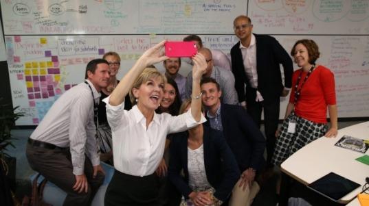 bishop hackathon selfie
