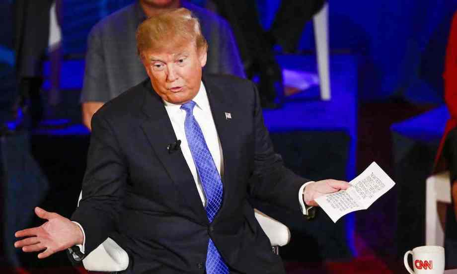 Donald Trump declaring women who have abortions should be punished