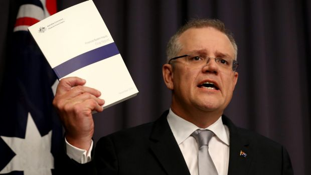 scott morrison with budget