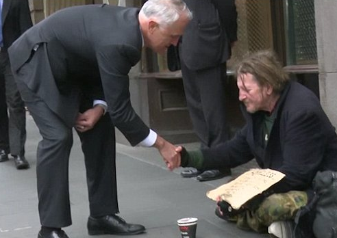 turnbull and homeless man