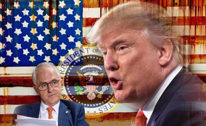 Malcolm Turnbull....Donald  Trump.......Pax Americana Illustration: Don Lindsay