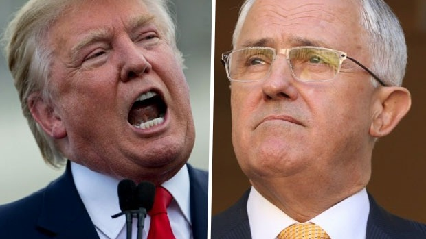 posturing trump and turnbull